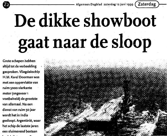 Laatste reis ex Karel Doorman